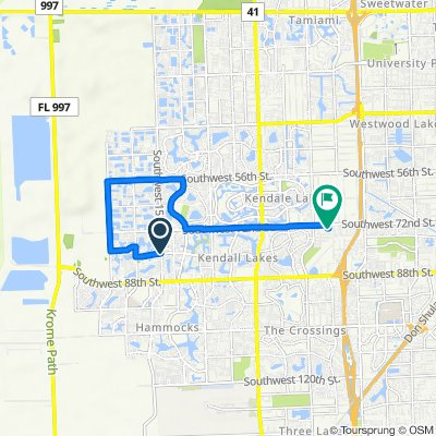 15600 SW 80th St, Kendall West to 7301 SW 123rd Pl, Miami