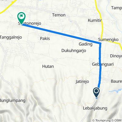 Jalan Jatirejo - Jabung to Jalan Cenderawasih 24, Kecamatan Mojoagung