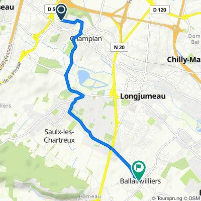 De 21 Chemin de la Butte, Champlan à 2 Allée Frédéric Chopin, Ballainvilliers