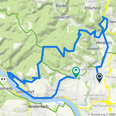 Knackige Rhein-Wied-Berg+Hütten-Runde 38 km