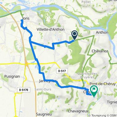 De Chemin de Mons À Anthon à Route de Vienne 66, Charvieu-Chavagneux