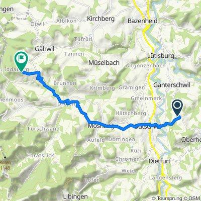 Aewil 342, Ganterschwil nach Iddaburg, Gähwil