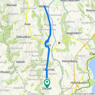 Da Josefstrasse, Dietwil a Reussblick 1, Dietwil