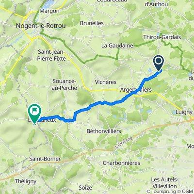 De 9 Bellegarde, Argenvilliers à 650 Les Petites Fâries, Ceton