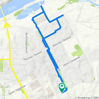От улица Марковцева 8 корпус 2, Кемерово до улица Марковцева 8 корпус 2, Кемерово