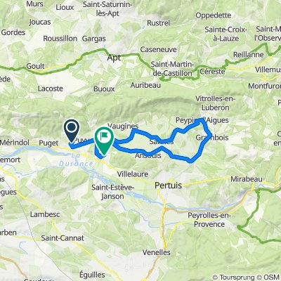 De Chemin de la Marquette 584, Lauris à Route de Cucuron, Cadenet