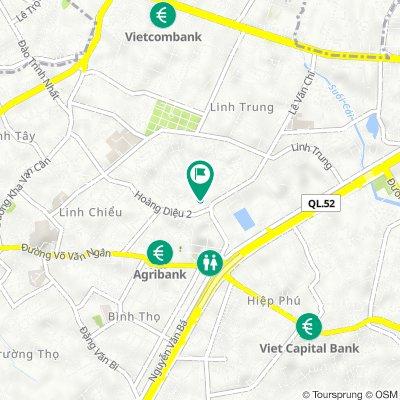 5/22 Hẻm 5 Lê Văn Chí, Ho Chi Minh City to 5/14 Hẻm 5 Lê Văn Chí, Ho Chi Minh City