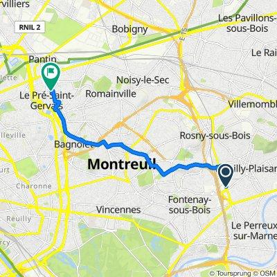 De 28–40 Avenue du Maréchal de Lattre de Tassigny, Fontenay-sous-Bois à 28 Rue Gabriel Péri, Le Pré-Saint-Gervais