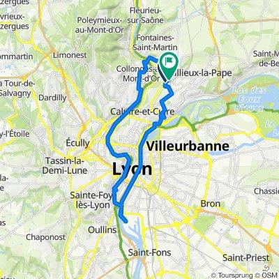 De 2quater Avenue des Bruyères, Fontaines-sur-Saône à 55B Avenue Delorme Paul, Sathonay-Camp
