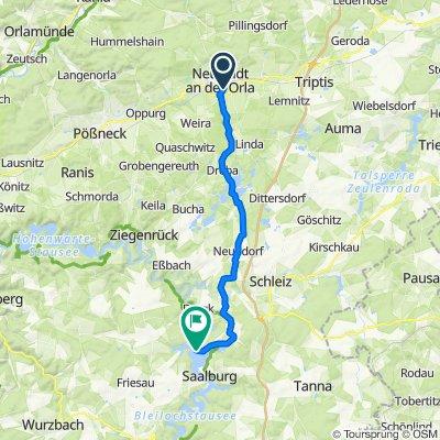 Centbaumweg 12, Neustadt an der Orla nach Sperrmauer 2A, Schleiz