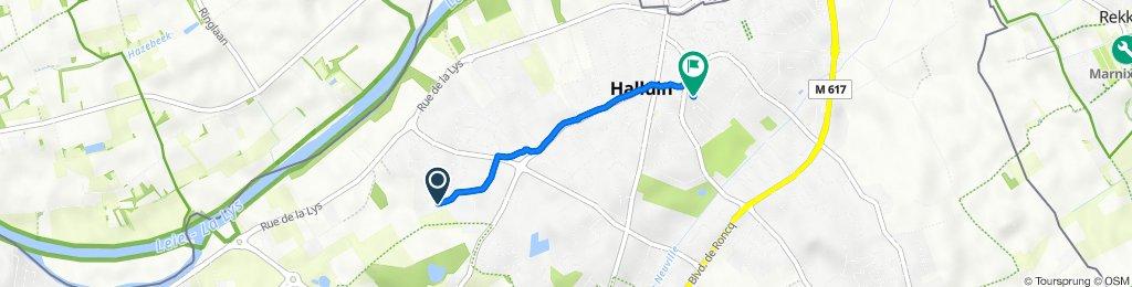 19 Rue Maurice Ravel, Halluin to 24 Rue de la Paix, Halluin