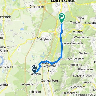 Taunusring 11, Alsbach-Hähnlein nach Löfflerweg 19–23, Darmstadt