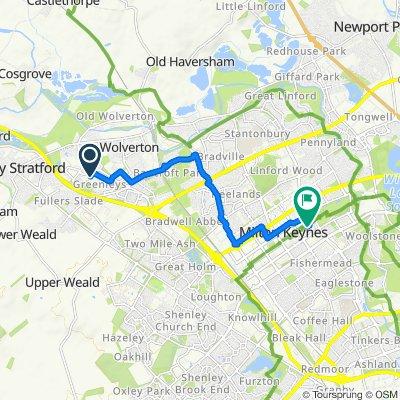 3 Haywards Croft, Milton Keynes to 802 Midsummer Blvd, Milton Keynes