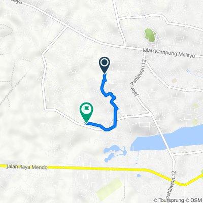 Route to Jalan Flamingo, Gerunggang