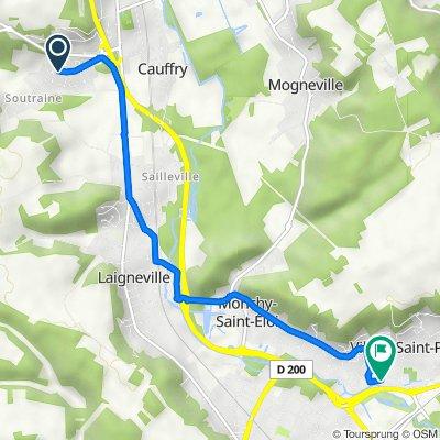 8 Chemin de la Petite Vallée, Cauffry do 30–34 Rue du Maréchal Gérard, Villers-Saint-Paul