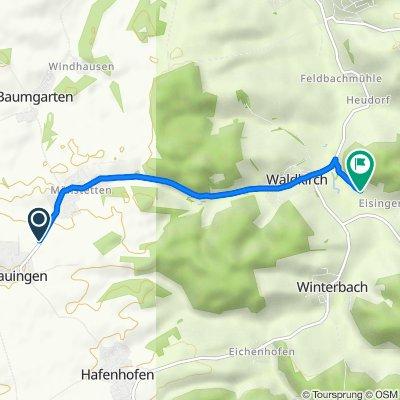 Route von GZ11, Dürrlauingen
