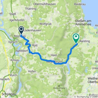 Eggartenweg 8A, Reichling nach Unnamed Road, Raisting