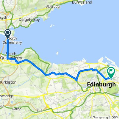 A9000, North Queensferry, Inverkeithing to 10/5 Albion Gardens, Edinburgh