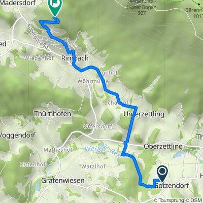 Gotzendorf 25, Hohenwarth nach Unnamed Road, Rimbach