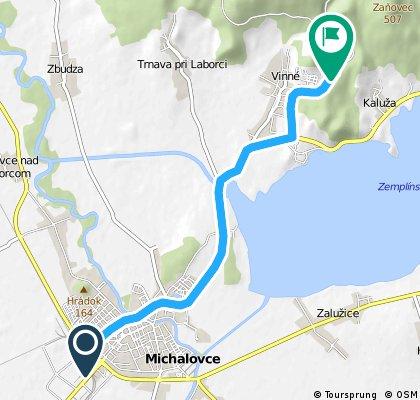 Michalovce - Vinné (jazero)