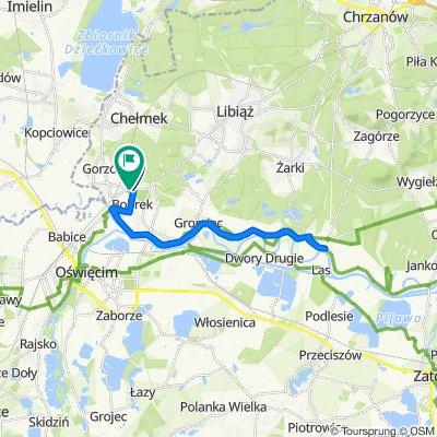 Bobrek - Mętków, Wiślańska trasa rowerowa.