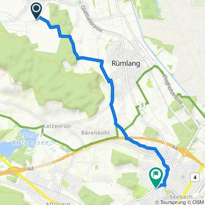 Sandrainstrasse 33–41, Oberhasli nach Seebacherstrasse 83, Zürich