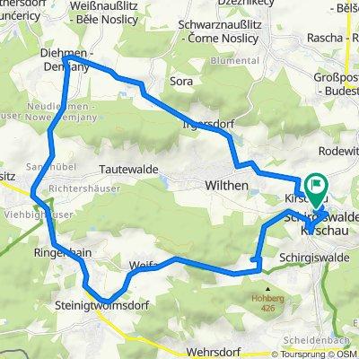 Spreeweg 4, Schirgiswalde-Kirschau nach Am Schloßberg 15, Schirgiswalde-Kirschau