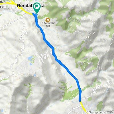Ruta a Carrera 8a 12-59, Floridablanca