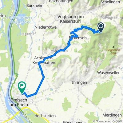 Route nach Franz-Sigrist-Straße 1, Breisach am Rhein