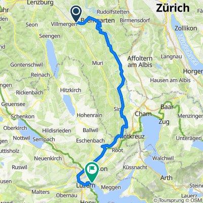 Bremgarterstrasse 12, Wohlen AG to Haldenstrasse 16, Lucerne