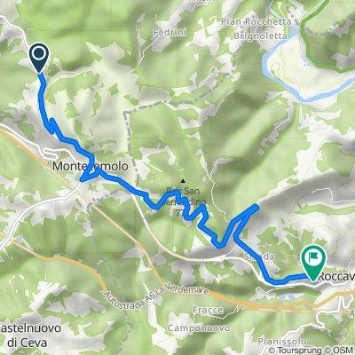 Da Via Pedaggera, Montezemolo a Frazione Case Rossi 41–45, Roccavignale