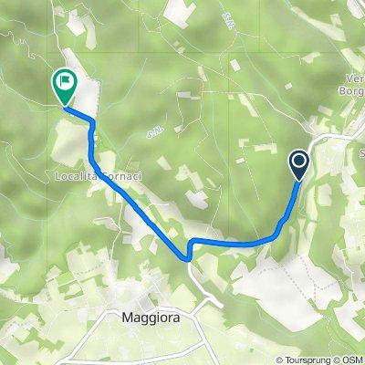 Route from Via Maggiora, Borgomanero