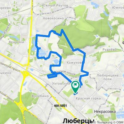 От улица Митрофанова 22 корпус 2, Люберцы до улица Попова 1, Люберцы