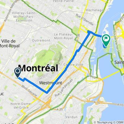 4905 Av St-Kevin, Montréal to 140 Ch du Tour-de-l'Île, Montréal