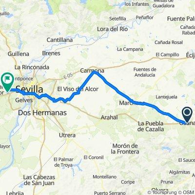 De Calle de la Huerta, Osuna a Calle Neuquén, 25, Espartinas