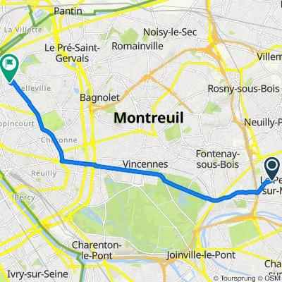 De 66 Avenue Ledru-Rollin, Le Perreux-sur-Marne à 9 Rue du Chalet, Paris