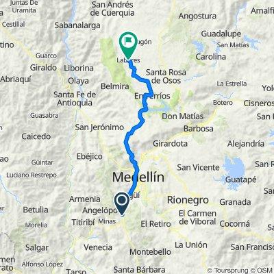 De Calle 130 Sur 44a-79, Caldas a San José De La Montaña-Belmira