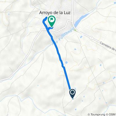 De Calle Tenerías, Arroyo de la Luz a Calle Cáceres 1D, Arroyo de la Luz