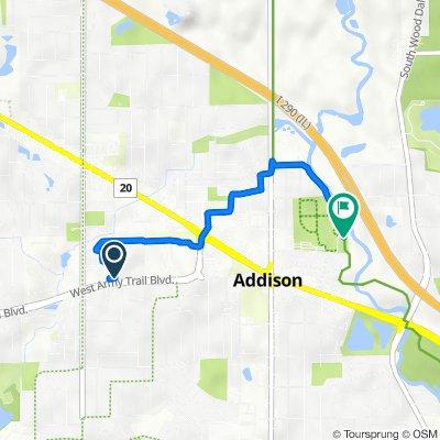 235 N Mill Rd, Addison to 120 E Oak St, Addison