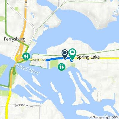 502 W Savidge St, Spring Lake to 106 S Park St, Spring Lake