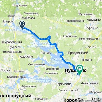 От Ивановское Большое до Старое Ярославское шоссе 108, Пушкино