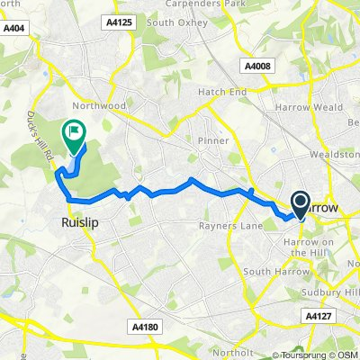Route from 58 Bessborough Road, Harrow