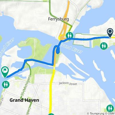 414 W Savidge St, Spring Lake to 1231 Coho Dr, Grand Haven