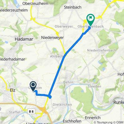 Schaumburger Straße 5, Limburg nach Steinbacher Straße 25, Beselich