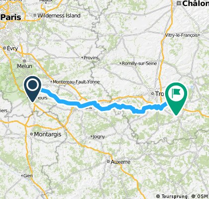 Day 1. Fontainebleau to Troyes