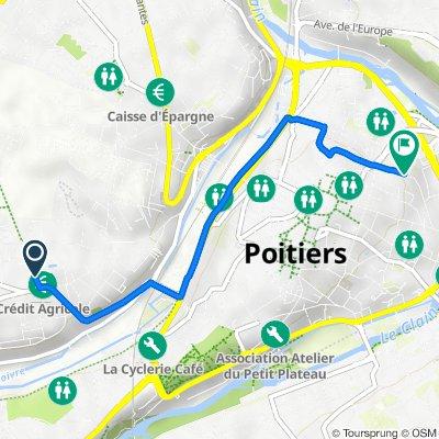 De Rue Robert Doisneau, Poitiers à 11bis Rue des Feuillants, Poitiers