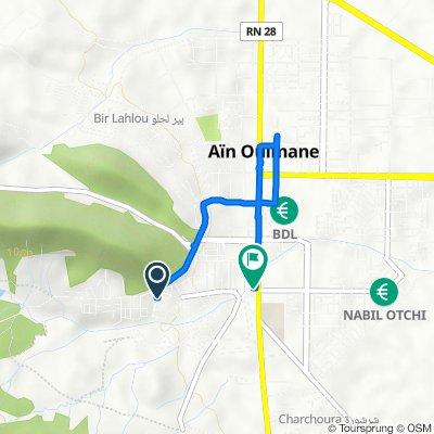 De Unnamed Road, Aïn Oulmene à Rue Blilita Bouguerra, Aïn Oulmene