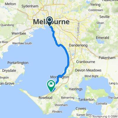 South Melbourne to Dromana Pier via Esplanade