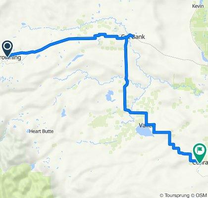 Day 6 Bike Ride Browning to Conrad MT