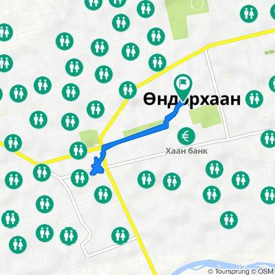 Unnamed Road, Öndörhaan to Unnamed Road, Öndörhaan